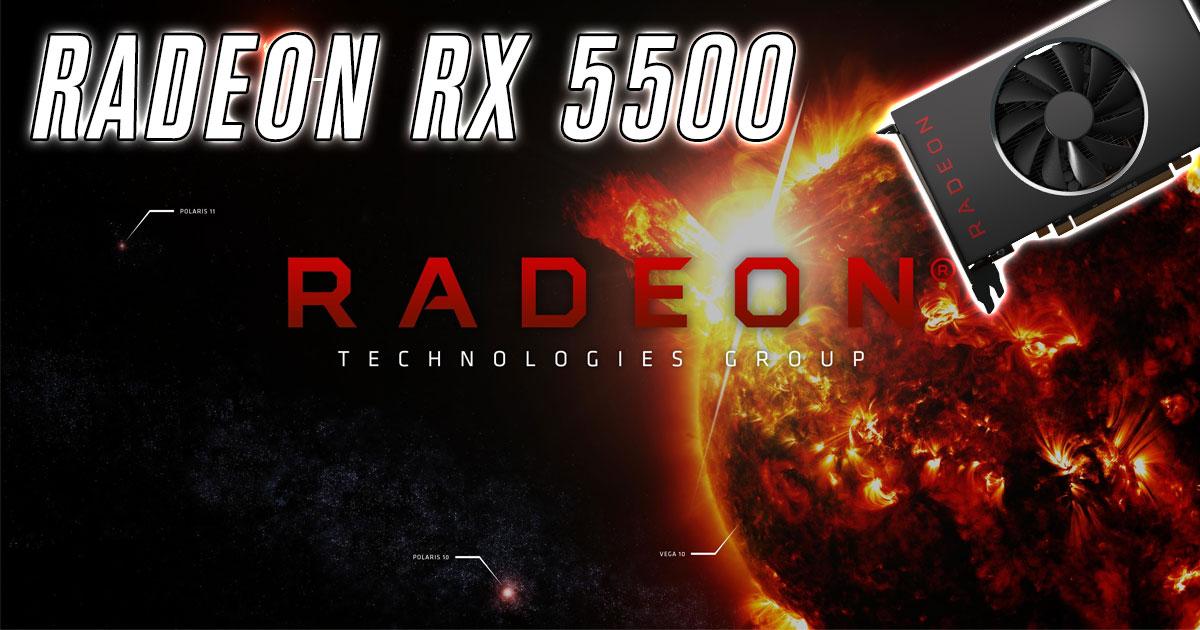 AMD lance les Radeon RX 5500
