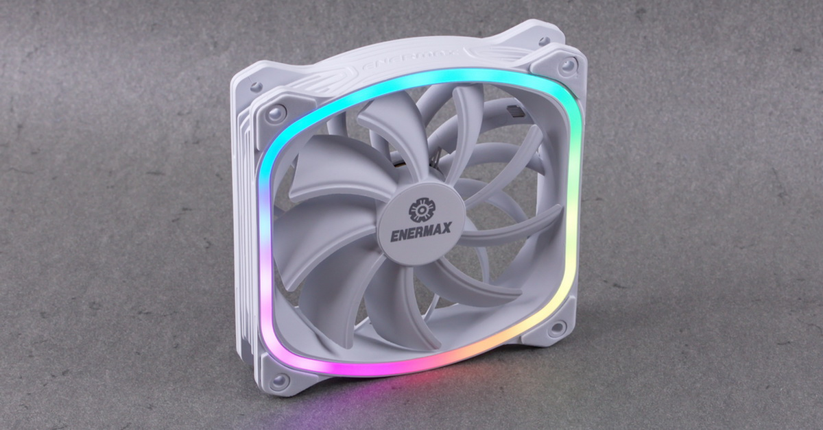 [TEST] Ventilateur Enermax SquA RGB White