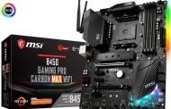 MSI élargit la série B450 MAX avec la Gaming Pro Carbon MAX WiFi et la Bazooka MAX WiFi