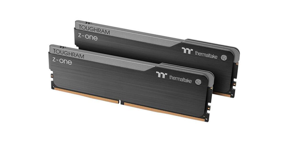 Thermaltake annonce sa mémoire sans RGB TOUGHRAM Z-ONE