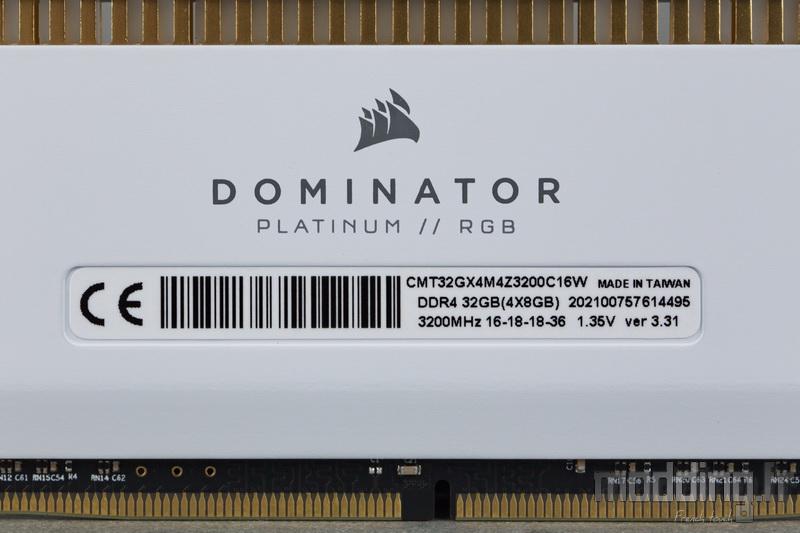 Dominator Platinum RGB White 16