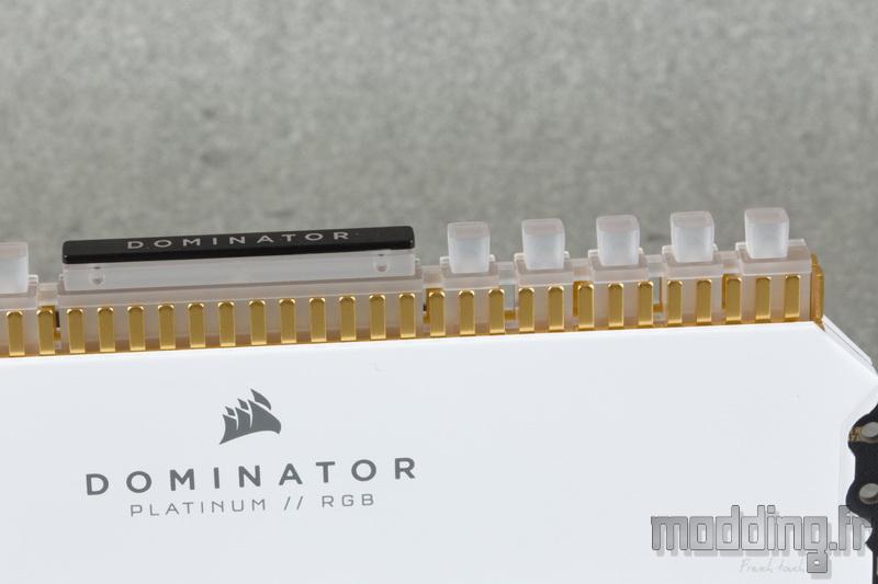 Dominator Platinum RGB White 25