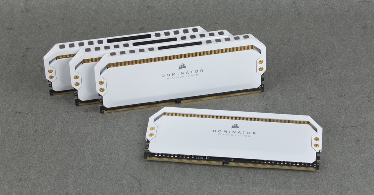 [TEST] Kit DDR4 Corsair Dominator RGB Platinum White 32 Go 3200 MHz CL16