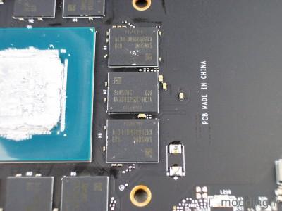 mémoire MSI RTX 3060TI GAMING X TRIO