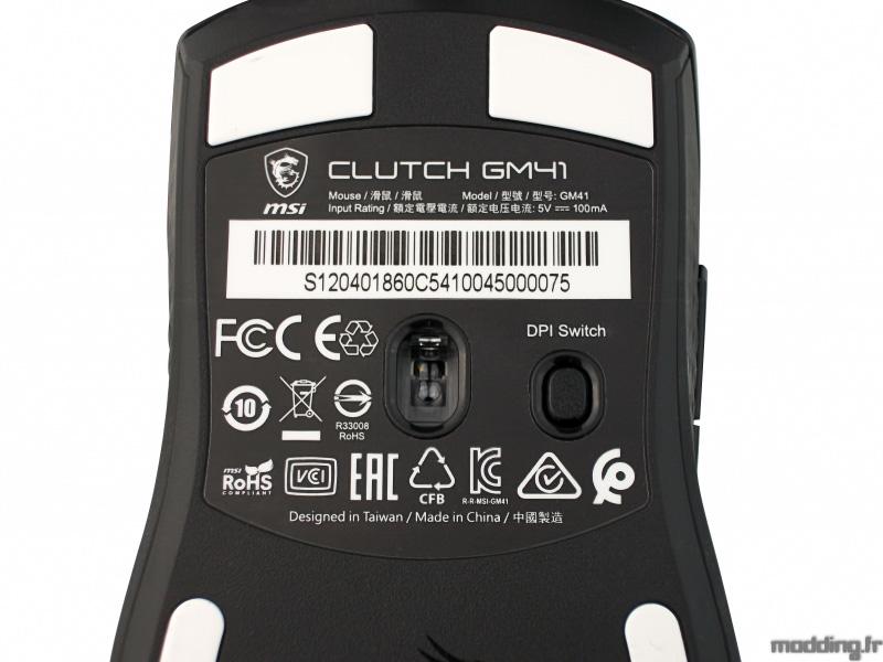 MSI CLUTCH GM41 back capteur et haut