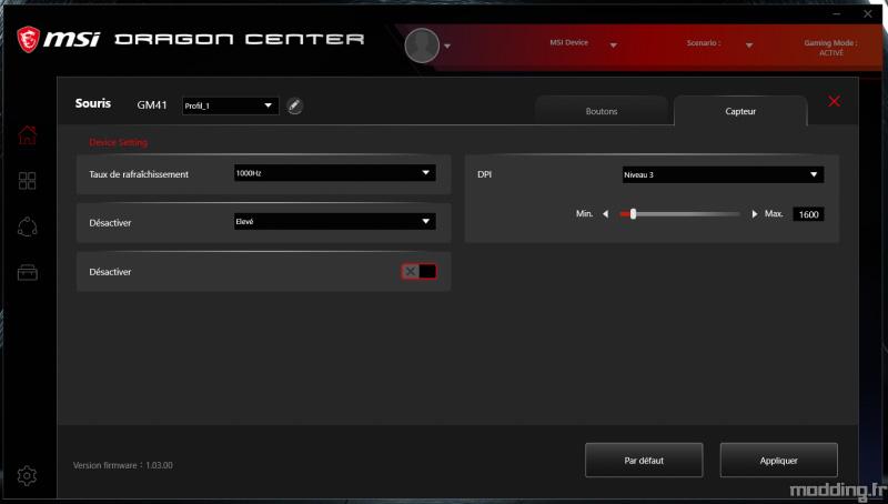 MSI CLUTCH GM41 logiciel dragon center (3)