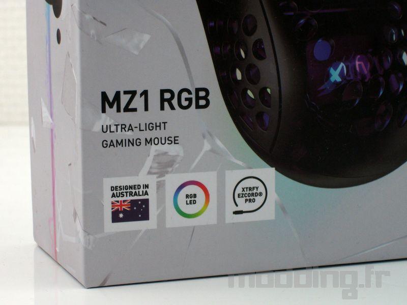 Xtrfy MZ1 détails box