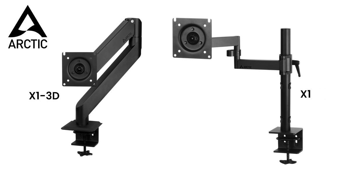ARCTIC présente les nouveaux supports de moniteur X1 et X1-3D