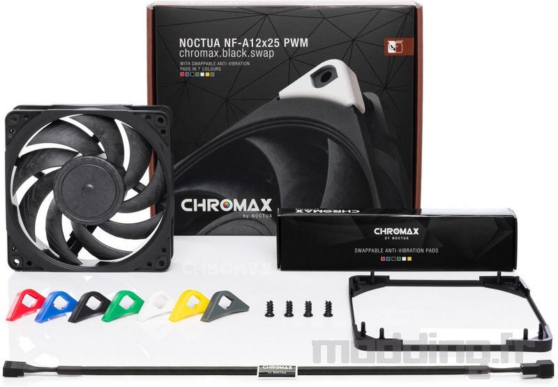 Noctua chromax line NF-A12x25 fan, NH-U12A (6)